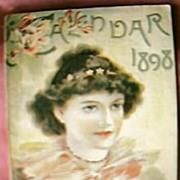 Lovely Little Victorian Calendar Booklet for 1898