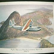 SOLD 1984 Pan Am Commemorative Menu Cover