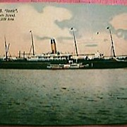 "Vintage Shipping Postcard Blue Star Line ""S.S. IONIC"""