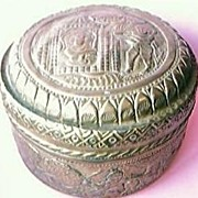 Very Old Brass Betel Nut Container With Fabulous Designs in Relief on Brass