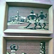 Two Small Maori Paintings Circa 1950's