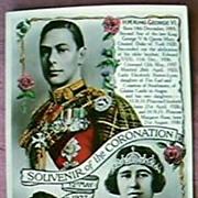 1937 King George V1  & Queen Elizabeth Postcard