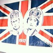 1937 Royal Silver Jubilee Souvenir Flag