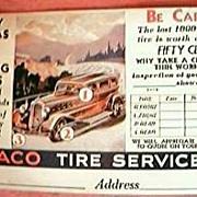 Vintage 1935 TEXACO Post Card