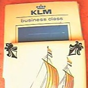KLM Airlines Business Class Souvenir Delft Tile