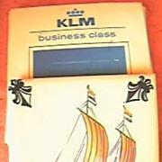 KLM Airlines Business Class Souvenir Delft Tile