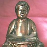 Taisho Period  Gilded Japanese Buddha Circa 1912-1944
