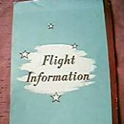 BCPA  Airlines Fight Information Brochure 1940's