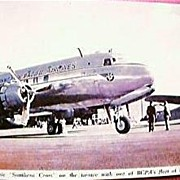 Vintage Airlines Postcard BCPA DC6 Circa 1949