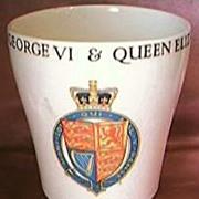 1937 King George V1 & Queen Elizabeth Coronation Beaker