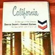 Standard Oil CHEVRON California Travel Map 1964
