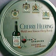 Cherry Heering Brandy Advertising Drinks Tray