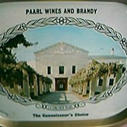 Paarl  Wines Advertising Drinks Tray