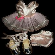 Pristine! Mint! Nancy Ann Debbie Ballerina Tutu With Silver Slippers