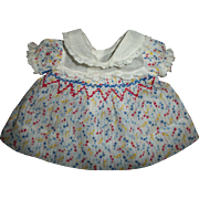 Original Ideal Composition Shirley Temple Smocking Dress