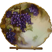 SALE PENDING Haviland Limoges Charger with Grapes & Gold