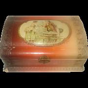 SALE Vintage Celluloid Dresser Box