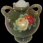 SALE Nippon Porcelain Vase with Roses