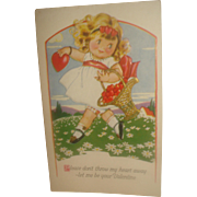 SALE Vintage Valentine's Day Post Card