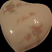 SALE Vintage Heart Shaped Limoges Trinket Box