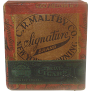 SALE Vintage Signature Cigar Box Maltby Co. Corning, NY