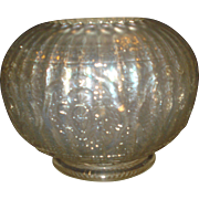 SALE Persian Medallion White Carnival Glass Rose Bowl