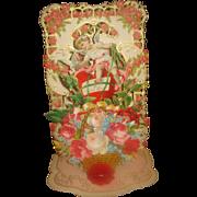 SALE Vintage Honeycomb Three Dimensional Valentine