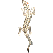 SALE Sterling Silver Marcasite Salamander Pin