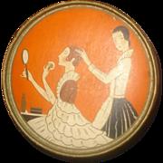 SALE Vintage Three Flowers Hudnut Face Powder Box
