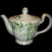 SALE Noritake Porcelain Bamboo Tea Pot