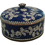 Cloisonné Covered Divided Dish