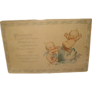 SALE Rose O'Neill Kewpie Post Card Easter