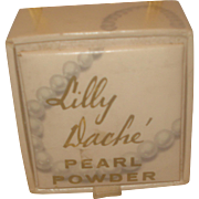 SALE Vintage Lilly Dache' Pearl Powder