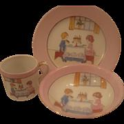 SALE 3 Piece Noritake Childrens Dish Set