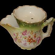 SALE Porcelain Scuttle Type Mustache Cup