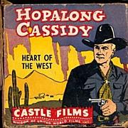 "Hopalong Cassidy ""Heart of the West"" 8mm Castle Film w Box"