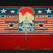 "Marx ""Budget Bank"" Patriotic Metal Bank"
