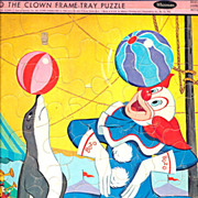 "1966 Bozo the Clown 11 1/2"" x 14 1/2"" Frame Tray Puzzle"