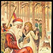 PFB Father Christmas with Girl 1907 Postcard