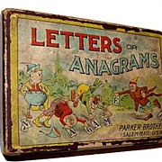 "SALE Early 1900s Parker Brothers ""Letters or Anagrams"" Game"