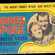 """1940 Fibber McGee & Molly """"Wistful Vista Mystery"""" Game"""