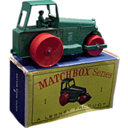 1962 Matchbox #1 Aveling Barford Roller in Box