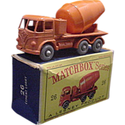 1960s Matchbox 26 Foden Cement Truck GPW in Boc