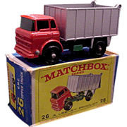 1960s Lesney Matchbox 26 GMC Tipper Truck BPW Mint Box