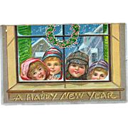 Francis Brundage Children New Years 1907 Postcard