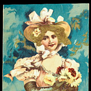 New Years International Arts Girl in Hat 1908 Postcard