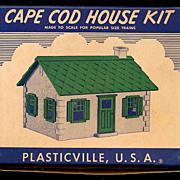 Vintage Plasticville Cape Cod Kit House in Original box