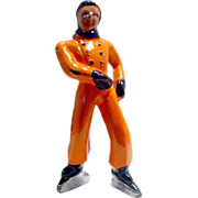 (B176) Barclay Boy Figure Skater in All Orange