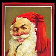 1910 Julius Bien Santa Claus with Pipe Postcard