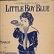 """1900 """"Little Boy Blue"""" March Sheet Music"""
